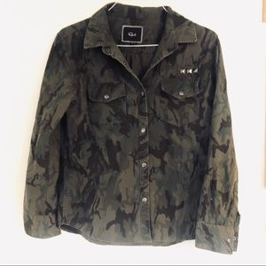 Rails Camouflage Studded Button down shirt